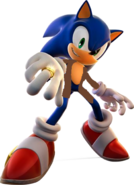 Sonic with a coat