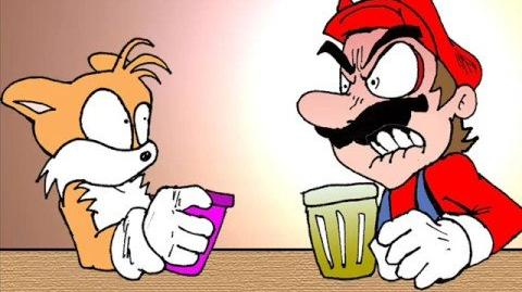 Mario and Tails having a nice conversation