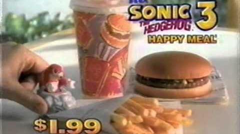1994-02 McDonald's Sonic the Hedgehog 3 Happy Meal toys commercial
