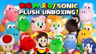 BIG Mario Sonic Plush Unboxing!