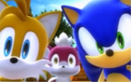 Chip with Sonic and Tails
