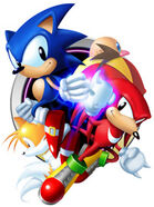 Sonic, Tails, Knuckles and Robotnik