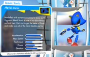 Metal sonic stats