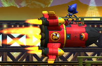 Metal sonic and tails rocket