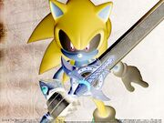 Wallpaper sonic and the black knight negativ