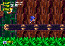 Sonic 2 Wood Zone (Conveyor Belt)