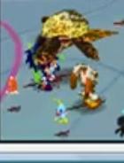 Ligaia attacking Sonic