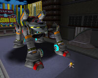 Tails vs egg walker by rosetta the dragon-d3away9