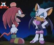 Knuckles streitet sich mit Rouge