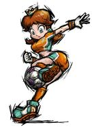 Mario smash football daisy artwork 20051013