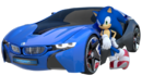 Sonic the hedgehog with car 3d by fentonxd-d5i9c94