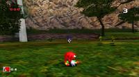 SA Knuckles vs. Sonic
