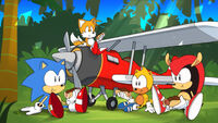 Sonic, Tails, Mighty und Ray Picknick