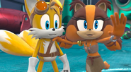 Tails and stick in sonic boom