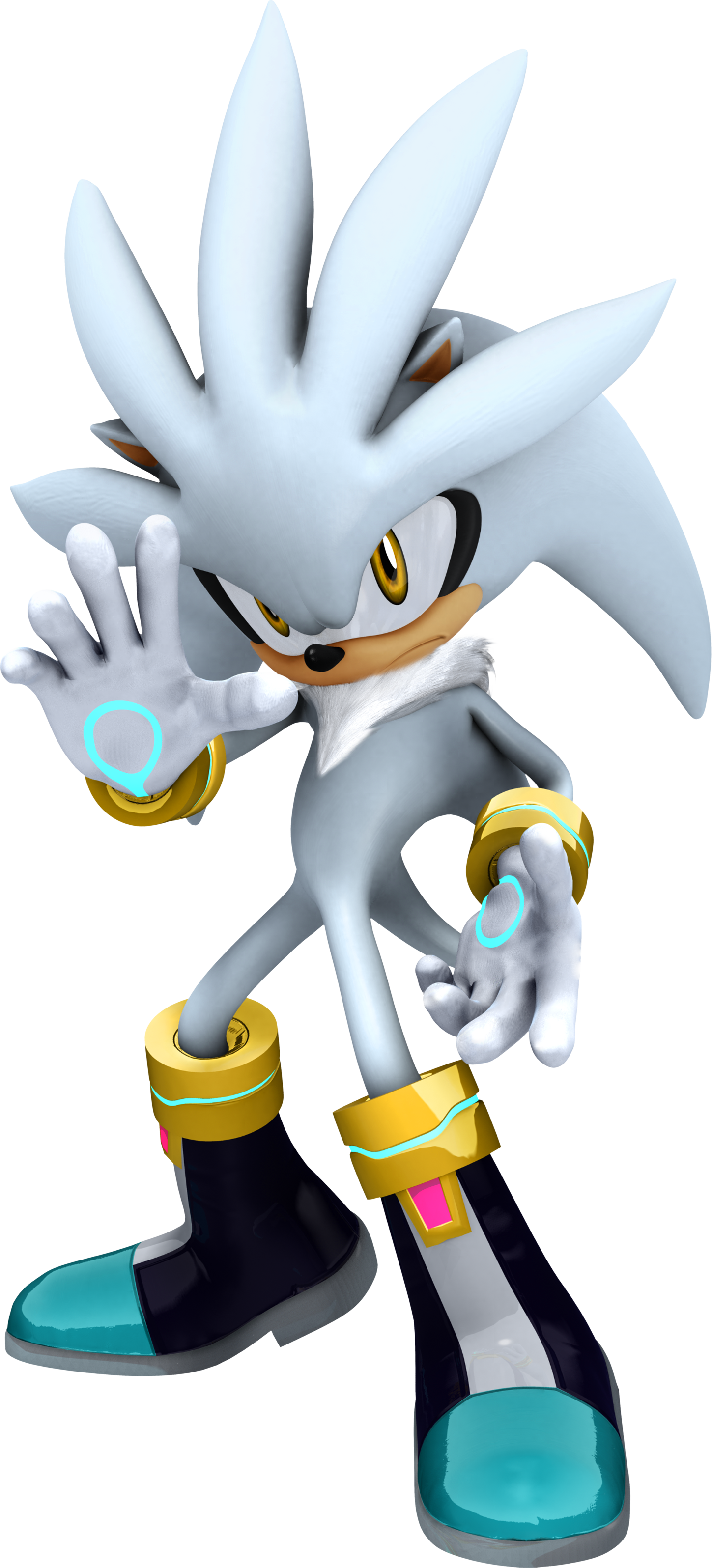 Super hedgehogs: super silver, super sonic, and super shadow.