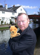 Sooty and Matthew Corbett at his House