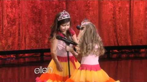 Web Exclusive Sophia Grace and Rosie Backstage!