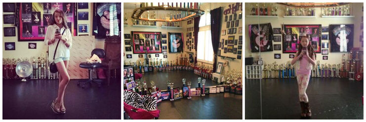 Collage of sophia lucia's trophies