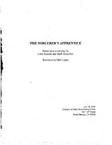 The Sorcerer's Apprentice (original script)