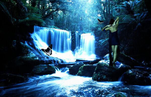 Enchanted waterfall