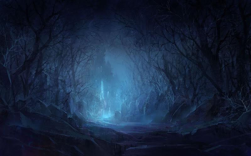 Night Dark Forest Castle