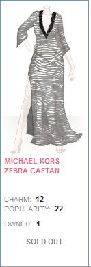 Michael kors zebra caftan