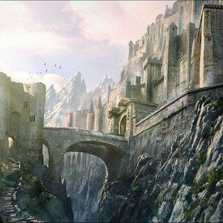 Keith Parkinson's depiction of Richard entering the castle where Kahlan is held prisoner.