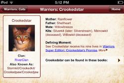 Crookedstar-Warriors App
