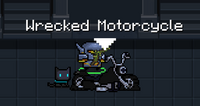 Wrecked motorcycle