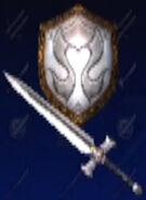 Omega Sword and Nemea Shield (2P)