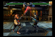 Gladiators (male) fight