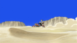 Soul Eater Episode 39 HD - Maka and Soul Evans ride through desert (1)