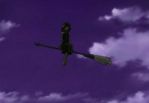 Medusa on a broomstick
