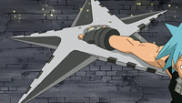 Episode 2 - Tsubaki transform into a shuriken with Black Star