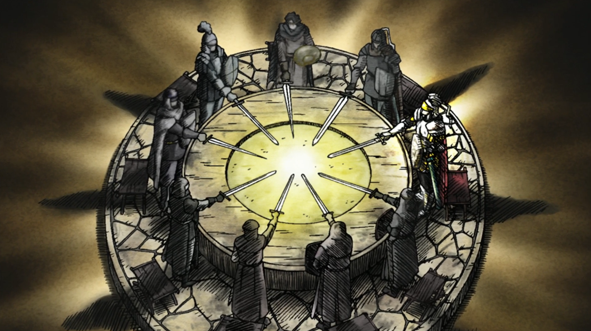 What happened to the knights of the round table