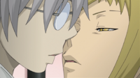 Soul Eater Episode 18 - Medusa leans in for a kiss