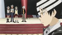 Soul Eater Episode 38 HD - Students, teachers watch Kid vs Black Star