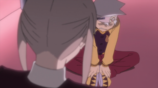 Soul Eater Episode 13 HD - Maka and Soul Evans talk about getting stronger
