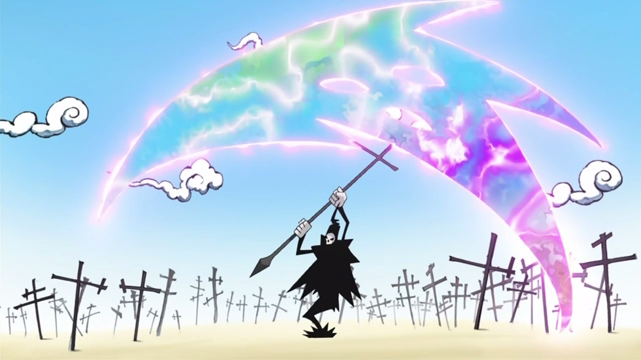 Image result for soul eater lord death with weapon