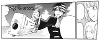 Soul Eater Chapter 95 - Liz and Patty impressed with Kid's command over Madness