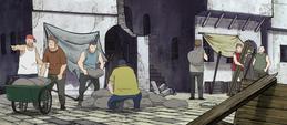 Soul Eater Episode 24 HD - Death City rebuilding stitched