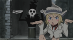 Soul Eater Episode 39 HD - Patty manipulates Lord Death statues (2)