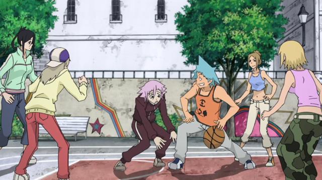 File:Soul Eater Episode 31 HD - Crona plays basketball 1.png