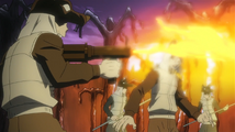 Soul Eater Episode 13 HD - Witch Prison guards shoots flames at Free