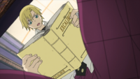 Soul Eater Episode 32 HD - Hero reading Excalibur's book