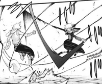 Chapter 68 - Crona attacks Black Star with the Three Sword Style
