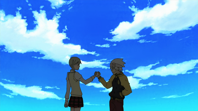 File:Episode 6 - Soul and Maka hold hands.png