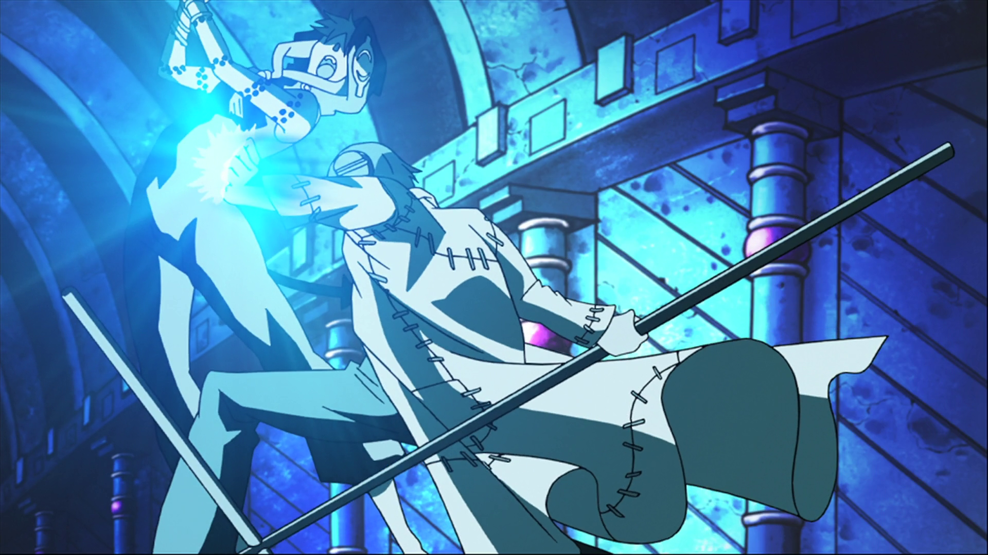 Image - Episode 19 - Stein performs Soul Menace on Medusa ...
