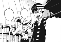 Soul Eater Chapter 101 - Kid, Liz, and Patty prepare for Demon Airship to crash