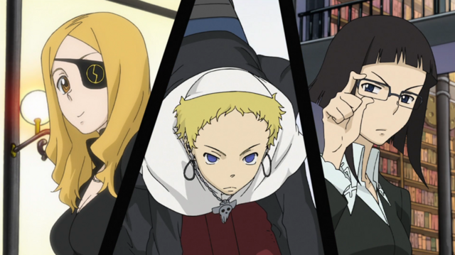 File:Soul Eater Opening 2 - Marie, Justin, Azusa 1.png
